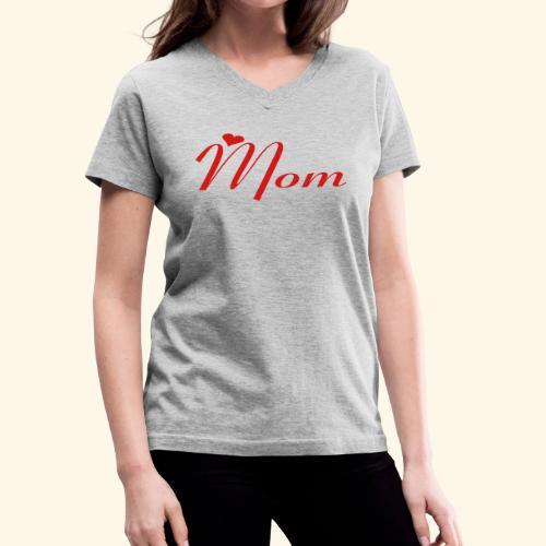 Mom - Women's V-Neck T-Shirt
