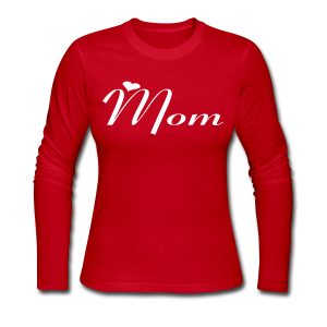 Mom - Women's Long Sleeve Jersey T-Shirt