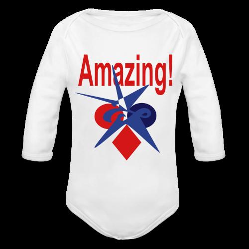 Amazing - Organic Long Sleeve Baby Bodysuit