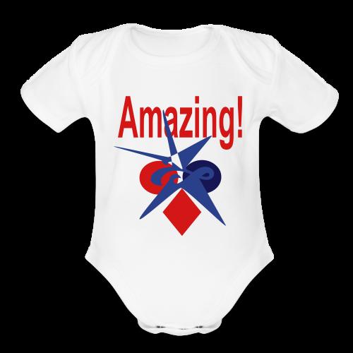 Amazing - Organic Short Sleeve Baby Bodysuit