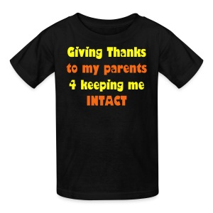 Giving Thanks to My Parents - Kids' T-Shirt