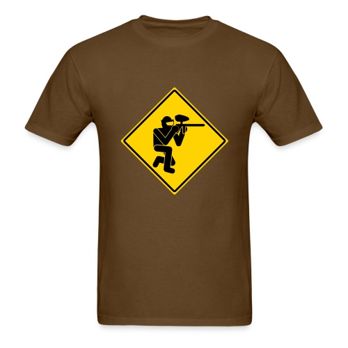 Paintball Caution - Men's T-Shirt