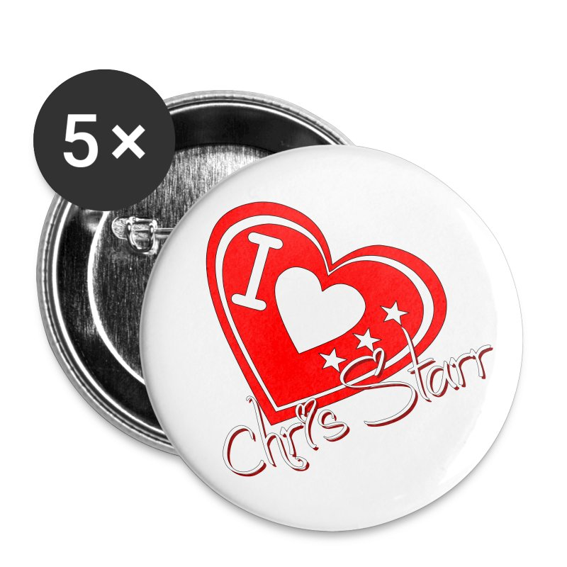 I Love Chris Starr Buttons - Small Buttons