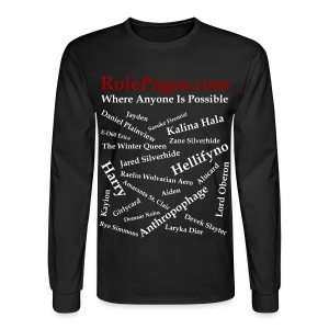 Men's Long Sleeve Tee - Character Names 2 White Lettering - Men's Long Sleeve T-Shirt