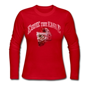Chicago Eddie Eagle Women's Long Sleeve Jersey Tee - Women's Long Sleeve Jersey T-Shirt