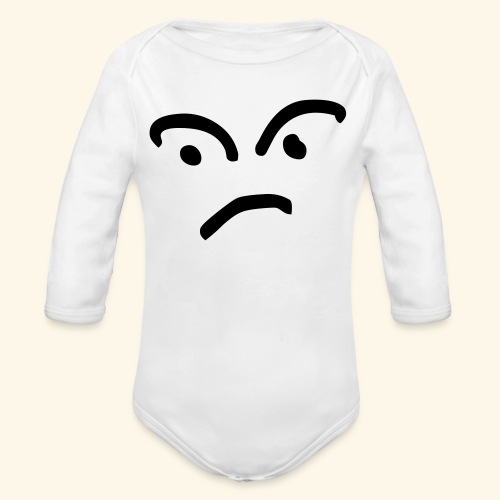 Confused Face - Organic Long Sleeve Baby Bodysuit