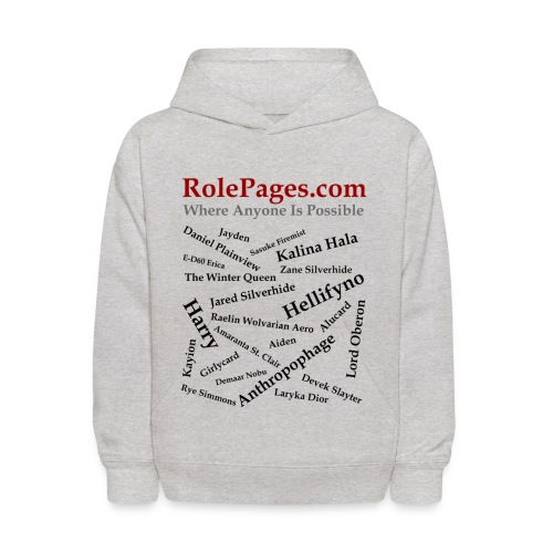 Kid's Hooded sweatshirt - Character Names 2 - Black Lettering - Kids' Hoodie