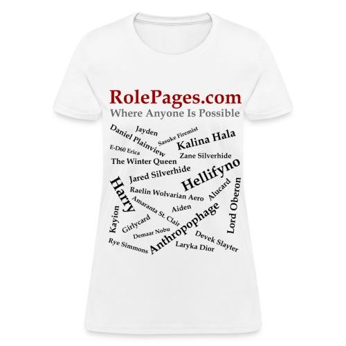 Women's Standard Weight T-Shirt - Character Names 2 - Black Lettering - Women's T-Shirt