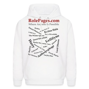 Men's Hooded Sweatshirt - Character Names 2 - Black Lettering - Men's Hoodie