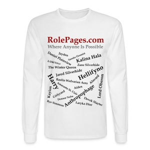 Men's Long Sleeve Tee - Character Names 2 - Black Lettering - Men's Long Sleeve T-Shirt