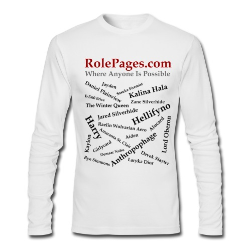 Men's AA Long Sleeve - Character Names 2 - Black Lettering - Men's Long Sleeve T-Shirt by Next Level