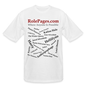Men's Tall T-Shirt - Character Names 2 - Black Lettering - Men's Tall T-Shirt