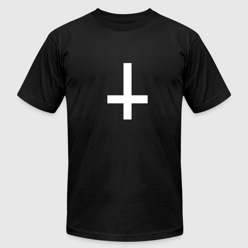 Cross antichrist T-Shirts - Men's T-Shirt by American Apparel