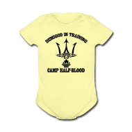 Baby Bodysuits ~ Baby Short Sleeve One Piece ~ POSEIDON'S TRIDENT DEMIGOD IN TRAINING Baby Clothing