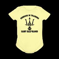 Baby Bodysuits ~ Baby Short Sleeve One Piece ~ POSEIDON'S TRIDENT DEMIGOD IN TRAINING Baby Clothing