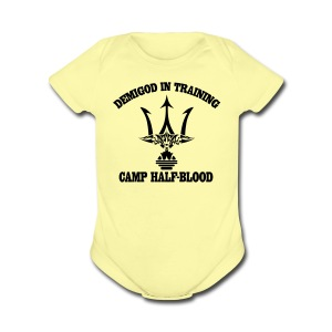POSEIDON'S TRIDENT DEMIGOD IN TRAINING Baby Clothing - Short Sleeve Baby Bodysuit
