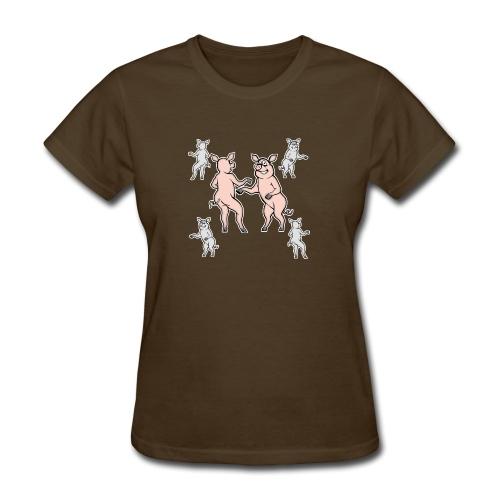 Dancing pigs - Women's T-Shirt