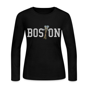 Boston Lax Women's Long Sleeve Jersey Tee - Women's Long Sleeve Jersey T-Shirt