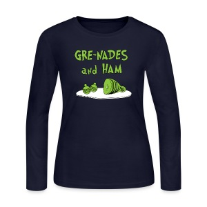 GRE-NADES and HAM - Women's Long Sleeve Jersey T-Shirt