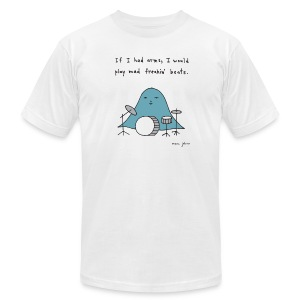 If I had arms - Mens white - Men's T-Shirt by American Apparel