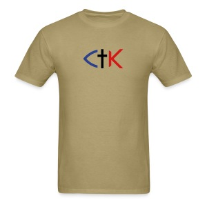 CTK Fish B Men's - Khaki - Men's T-Shirt