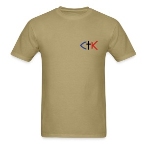 CTK Fish A Men's - Khaki - Men's T-Shirt