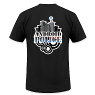 T-Shirts ~ Men's T-Shirt by American Apparel ~ Android Police - Front & Back