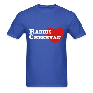 RabbisHeartCheshvan - Blue - Men's Sizes - Men's T-Shirt