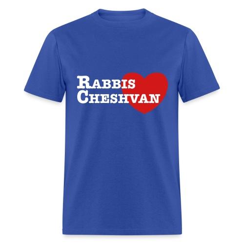 RabbisHeartCheshvan - Blue - Men's Sizes - Men's T-Shirt