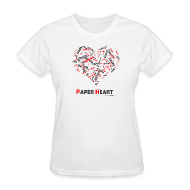 T-Shirts ~ Women's T-Shirt ~ Paper Heart Women's Fan T-Shirt