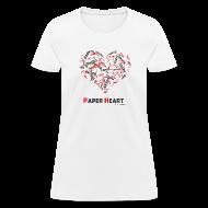 T-Shirts ~ Women's T-Shirt ~ Paper Heart Women's Fan T-Shirt