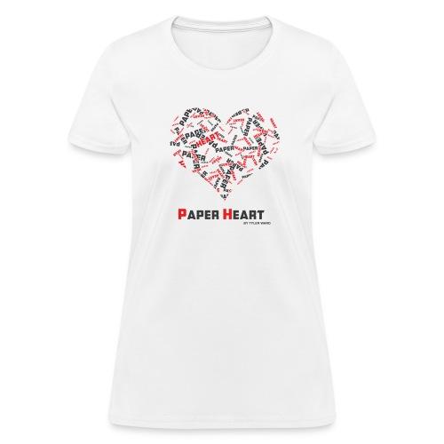 Paper Heart Women's Fan T-Shirt - Women's T-Shirt
