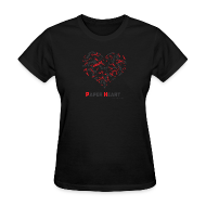 T-Shirts ~ Women's T-Shirt ~ Paper Heart Fan T-Shirt
