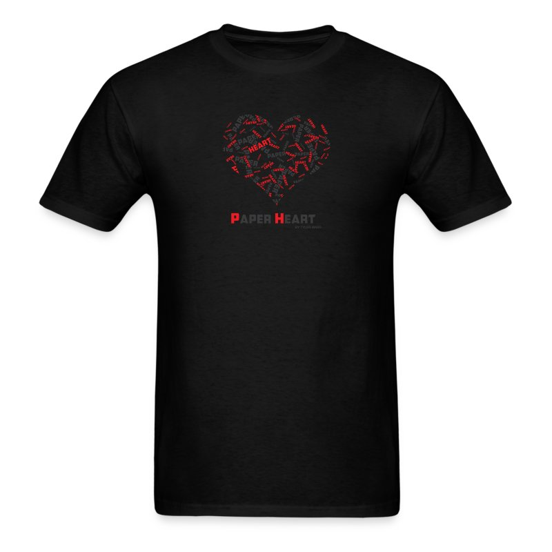paperheartwhitebackgroundfinalversion - Men's T-Shirt