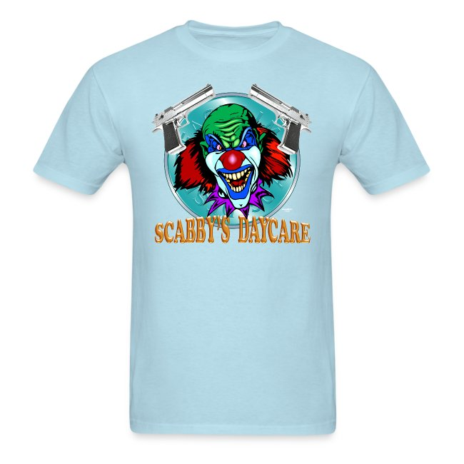 Greenboy Inc Evil Clown T Shirt Captain Scabby Mens T Shirt