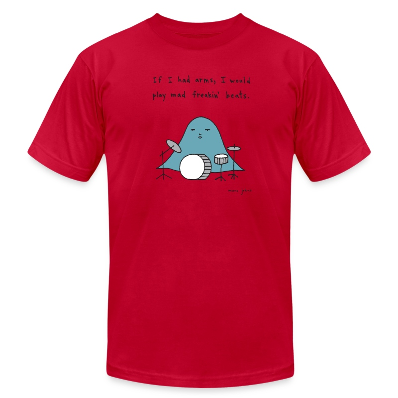If I had arms - Mens color - Men's T-Shirt by American Apparel