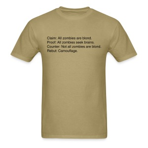 Zombies are blond - Men's T-Shirt