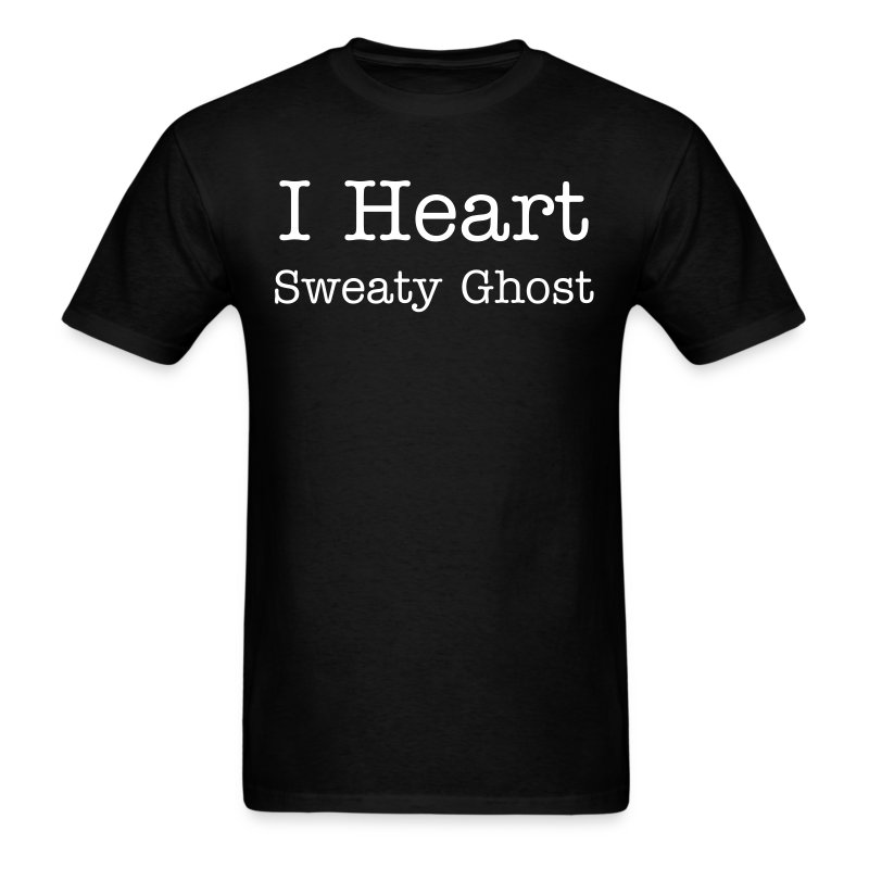 I Heart Sweaty Ghost Mens Shirt - Men's T-Shirt