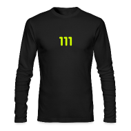 Long Sleeve Shirts ~ Men's Long Sleeve T-Shirt by Next Level ~ 111 / Simplify: American Apparel long-sleeve t-shirt- Black w/ Neon Yellow