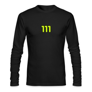 111 / Simplify: American Apparel long-sleeve t-shirt- Black w/ Neon Yellow - Men's Long Sleeve T-Shirt by Next Level