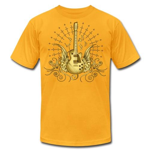 Golden Wing Guitar - Men's Fine Jersey T-Shirt