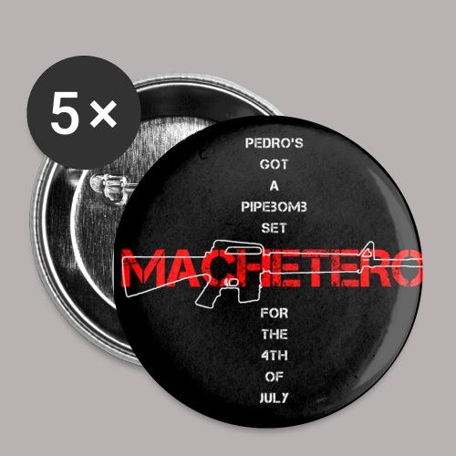 1 BLACK MACHETERO M16 BUTTON - Small Buttons