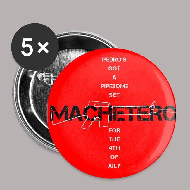 """1"""" RED MACHETERO M16 BUTTON"""