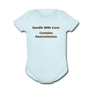 Baby Bodysuits ~ Baby Short Sleeve One Piece ~ BABY BOY: Handle With Care