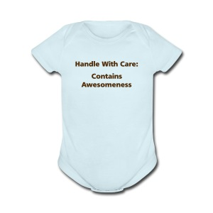 BABY BOY: Handle With Care - Short Sleeve Baby Bodysuit