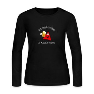 Sneables Women's Beer Drinking Shirt - Women's Long Sleeve Jersey T-Shirt