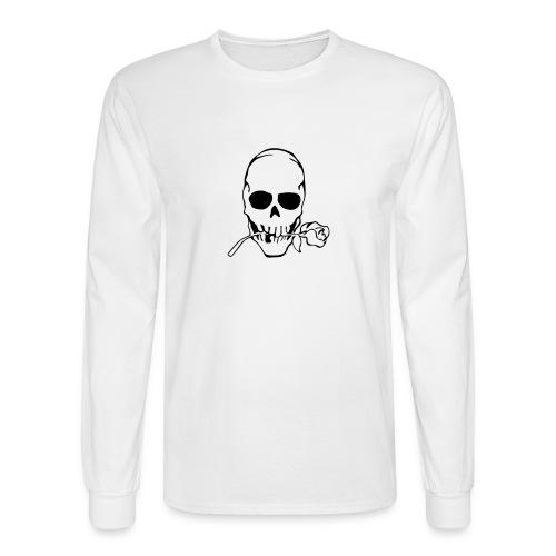 Skull w/ Rose - Men's Long Sleeve T-Shirt