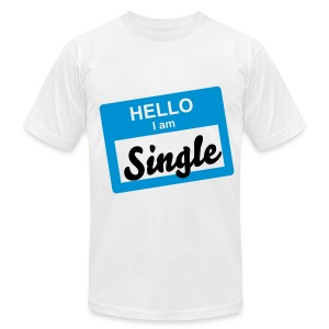 OK! Hello I'm Single Tee - Men's T-Shirt by American Apparel