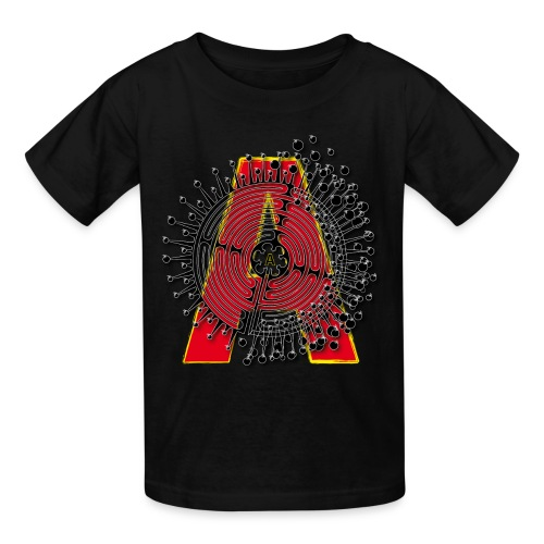 A Initial ABC Shirt - Name - Letter Fashion Design - Birthday - Gift - Kids' T-Shirt