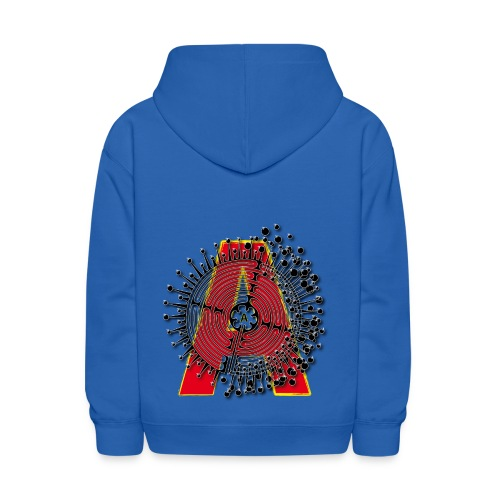A Initial ABC Shirt - Name - Letter Fashion Design - Birthday - Gift - Kids' Hoodie